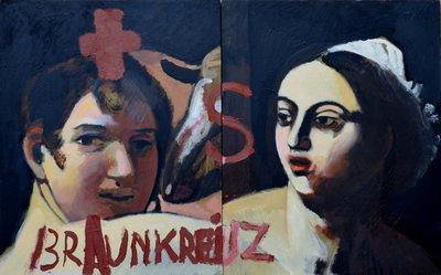 'Braunkreuz', 2012, 50 x 40 cm