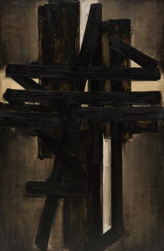 Soulages - Peinture, 195 x 130 cm, mai 1953 een van mijn favorieten  in de expositie