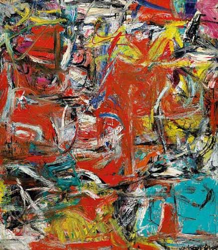 De Kooning - 1955 'Composition'. Speciaal voor Dick, Araun, Els en al die anderen die zien wat ik niet zie. Sorry guys.