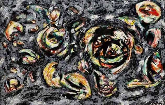 Jakson Pollock, Ocean Greyness, 1953 Even geen drippings maar een wat mij betreft hele lyrische Pollock. Zó mooi.