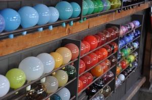 kleurstalen in de Glasblazerij
